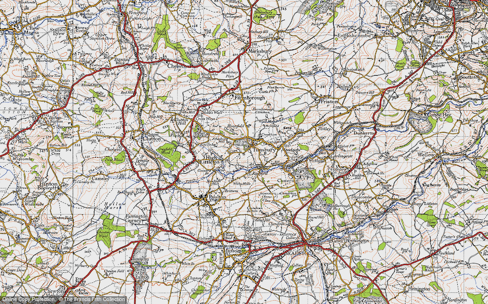 Old Map of Timsbury, 1946 in 1946