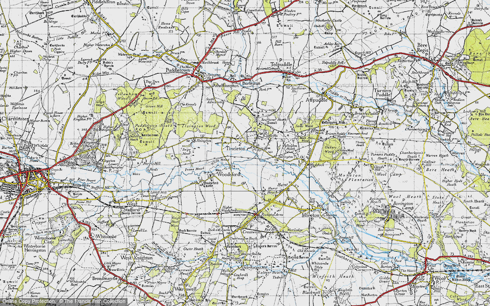 Old Map of Tincleton, 1945 in 1945