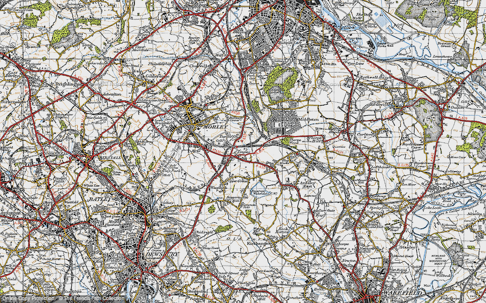Old Map of Tingley, 1947 in 1947