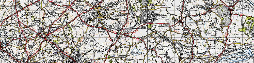 Old map of Tingley in 1947