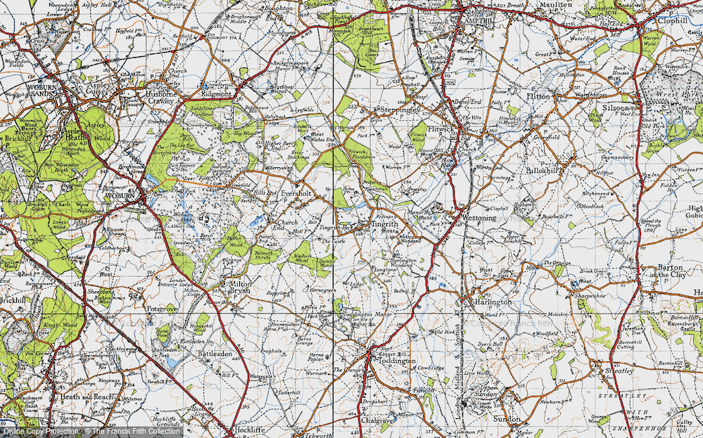 Old Map of Tingrith, 1946 in 1946
