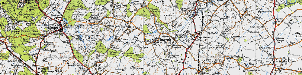 Old map of Tingrith in 1946