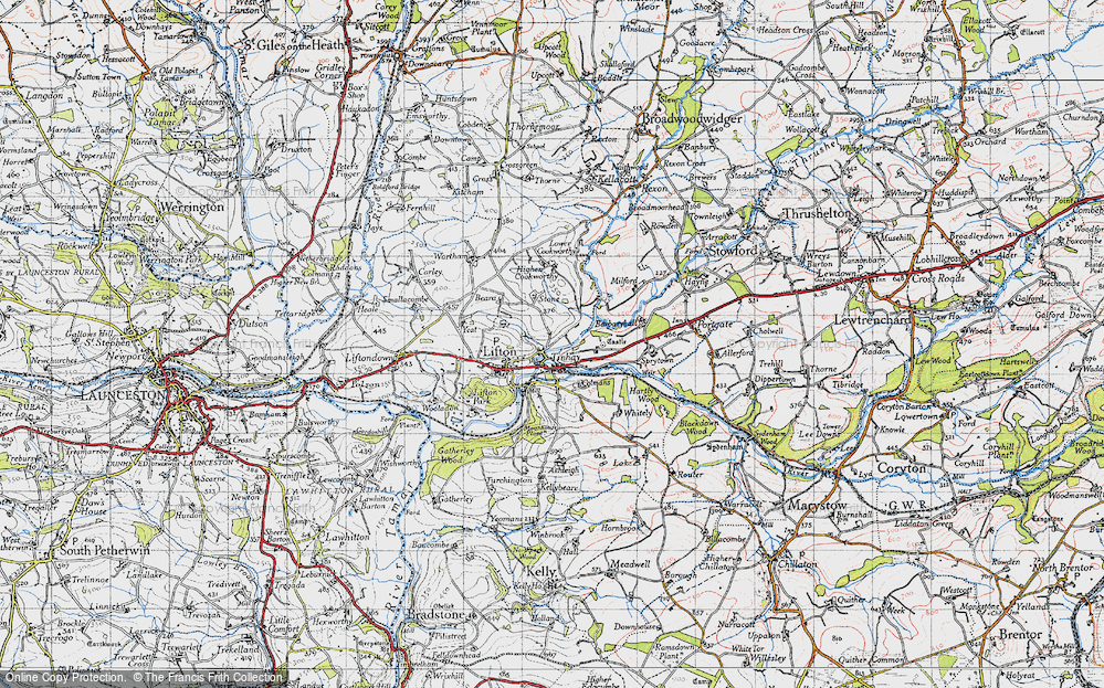 Old Map of Tinhay, 1946 in 1946