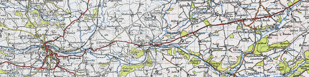 Old map of Tinhay in 1946