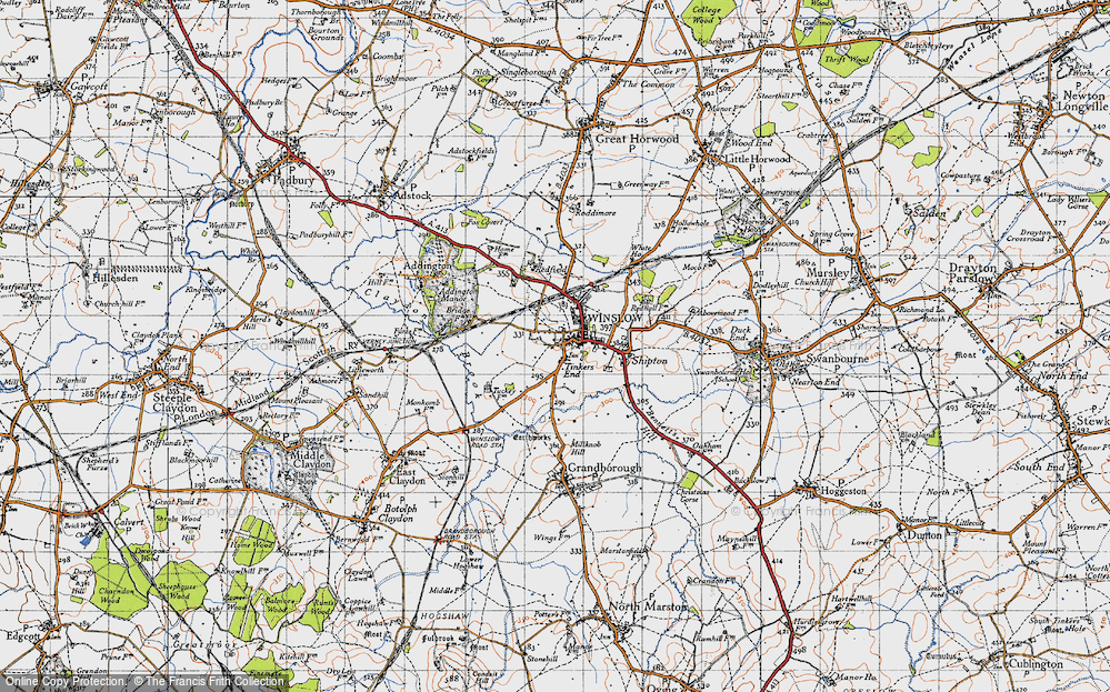 Old Map of Tinkers End, 1946 in 1946