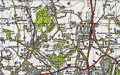 Old map of Tinshill in 1947
