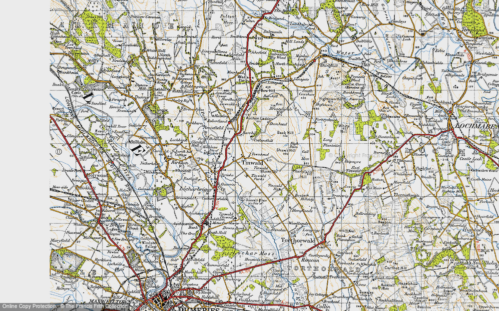Old Map of Tinwald, 1947 in 1947