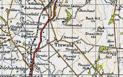 Old map of Tinwald Ho in 1947