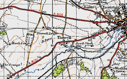 Old map of Tinwell in 1946