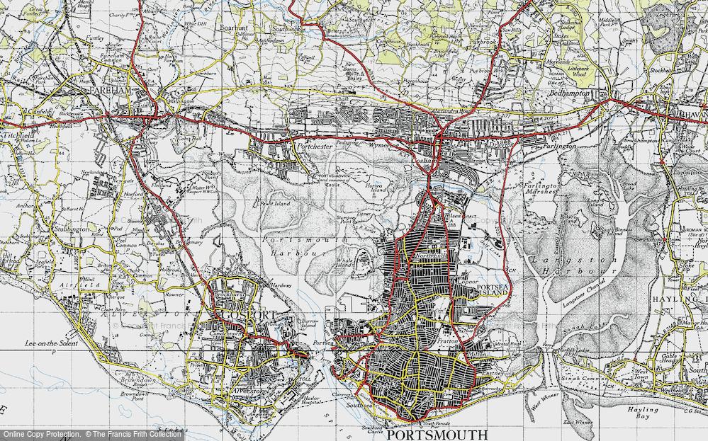 Old Map of Tipner, 1945 in 1945