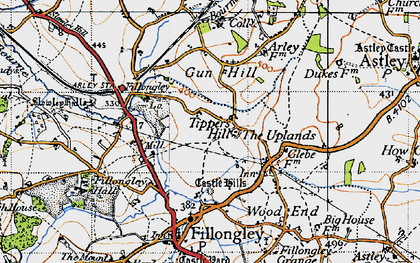 Old map of Tipper's Hill in 1946