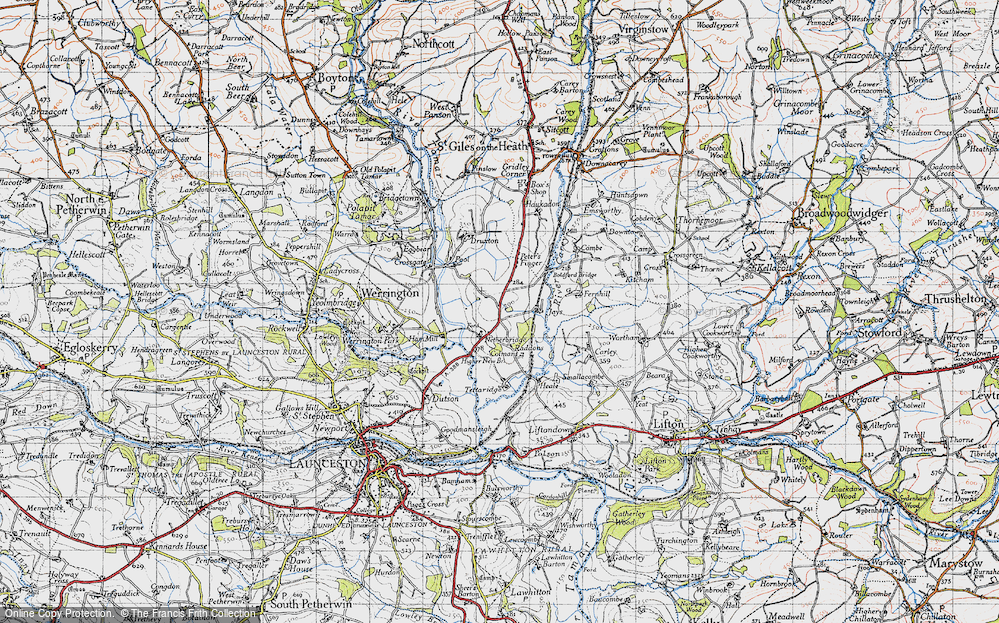 Old Map of Tipple Cross, 1946 in 1946