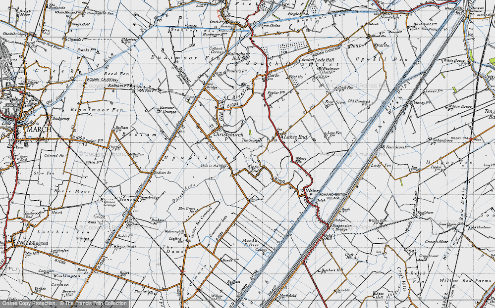 Old Map of Tipps End, 1946 in 1946