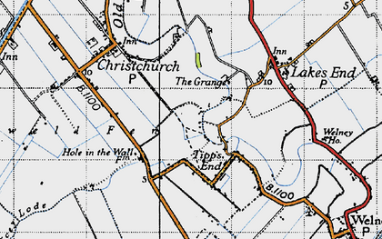 Old map of Tipps End in 1946
