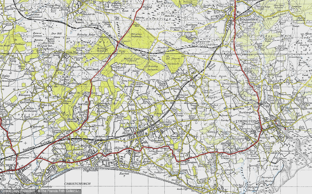Old Map of Tiptoe, 1940 in 1940