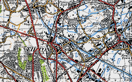 Old map of Tipton Green in 1946