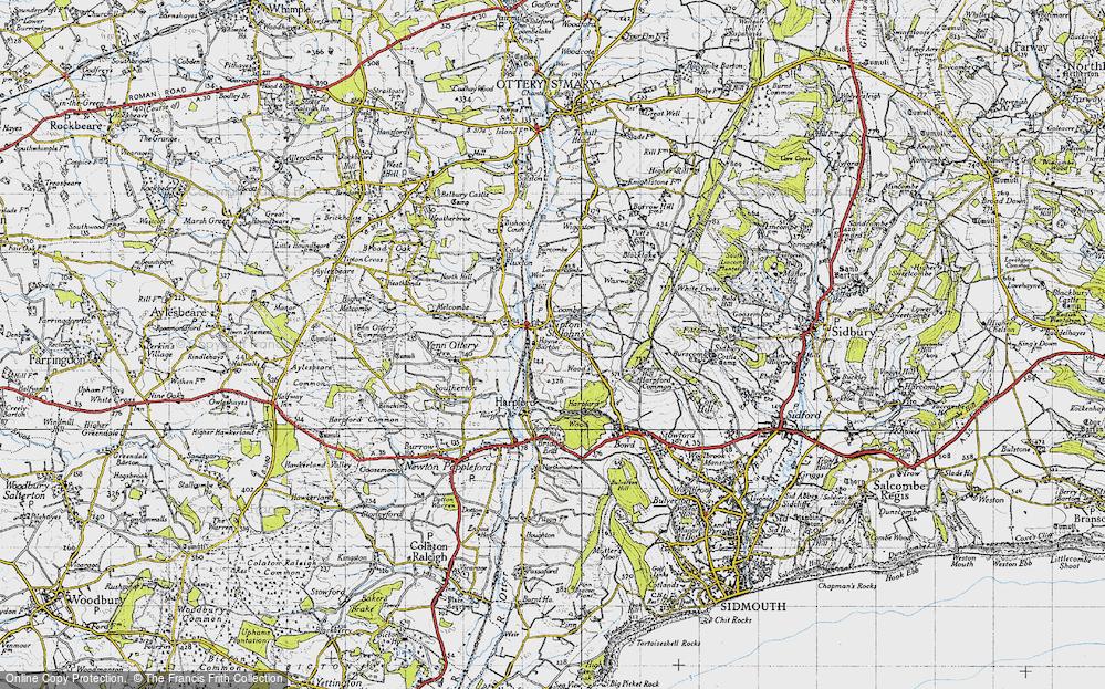 Old Map of Tipton St John, 1946 in 1946