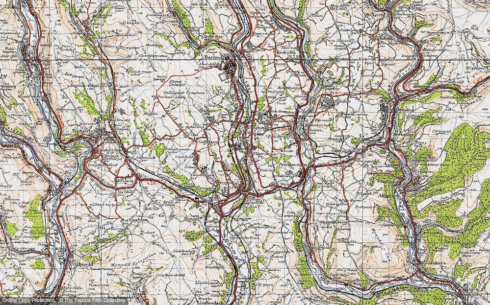 Old Map of Tir-y-berth, 1947 in 1947