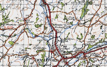 Old map of Tir-y-dail in 1947