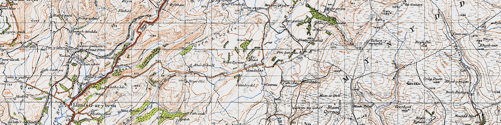Old map of Tirabad in 1947
