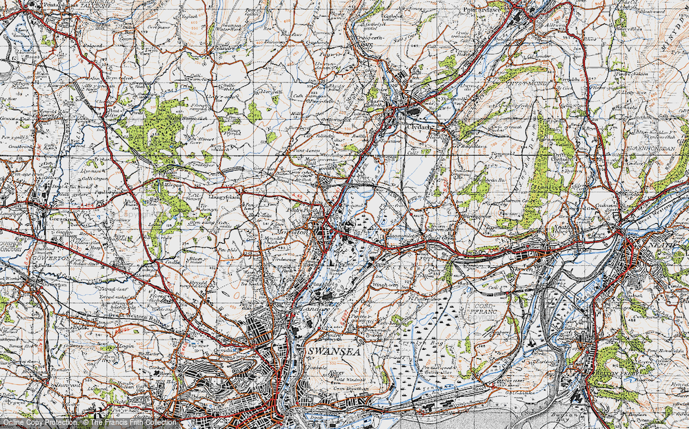Old Map of Tircanol, 1947 in 1947