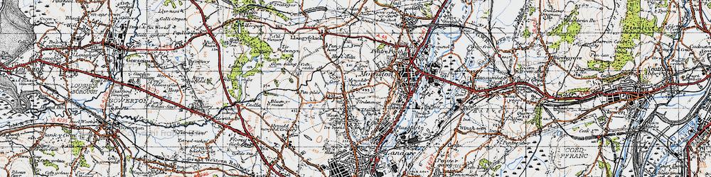 Old map of Tirdeunaw in 1947