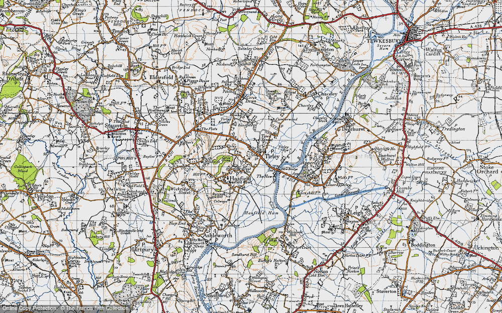 Old Map of Tirley, 1947 in 1947