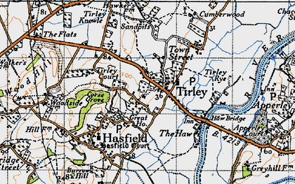 Old map of Tirley in 1947
