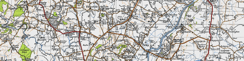 Old map of Tirley Knowle in 1947