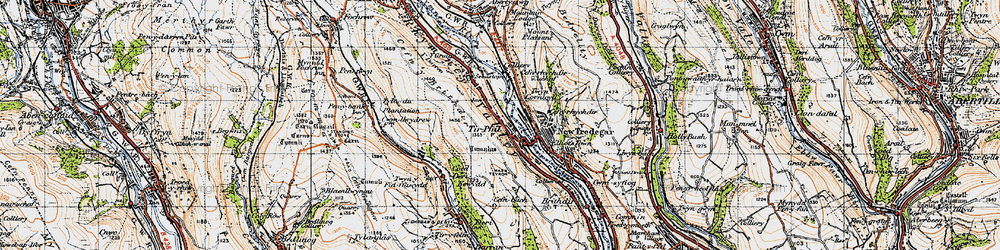 Old map of Tirphil in 1947