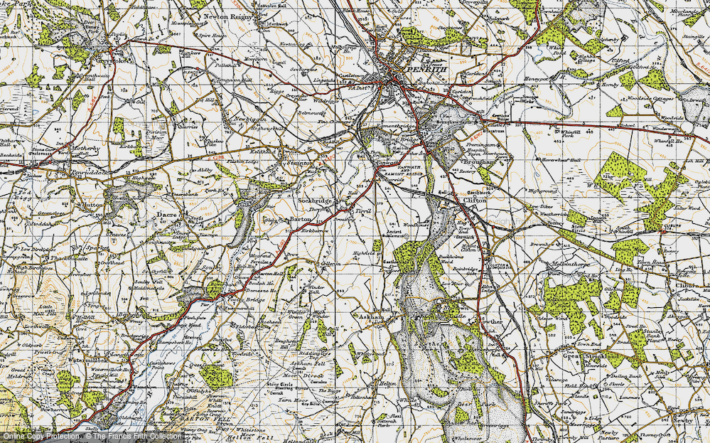 Old Map of Tirril, 1947 in 1947