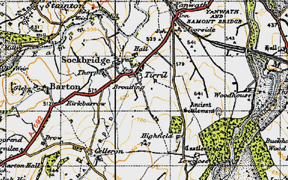 Old map of Tirril in 1947