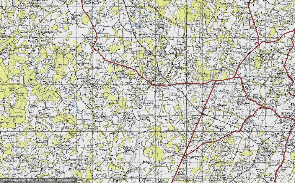 Old Map of Tisman's Common, 1940 in 1940