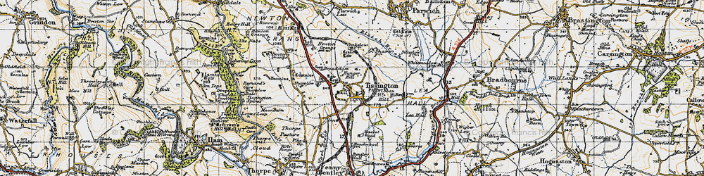 Old map of Tissington in 1946