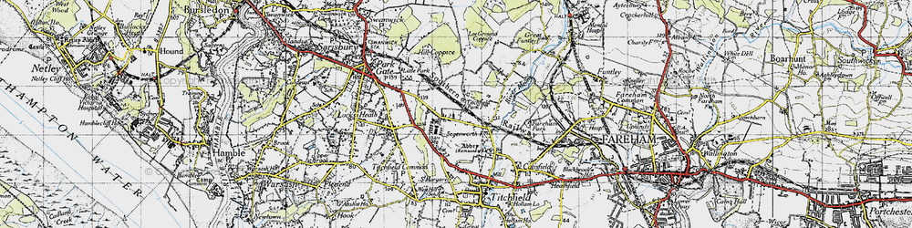 Old map of Titchfield Park in 1945
