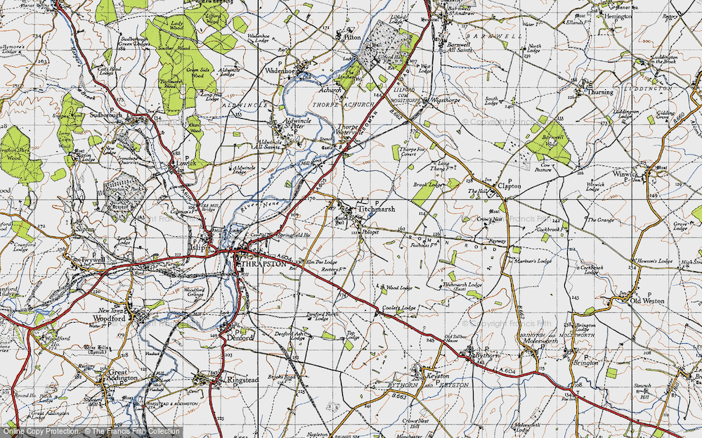 Old Map of Titchmarsh, 1946 in 1946