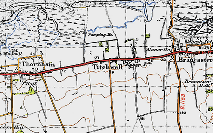 Old map of Titchwell in 1946