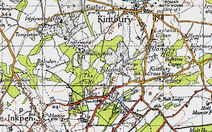 Old map of Titcomb in 1945
