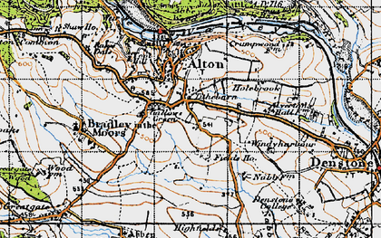 Old map of Tithebarn in 1946
