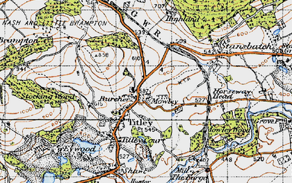 Old map of Titley in 1947