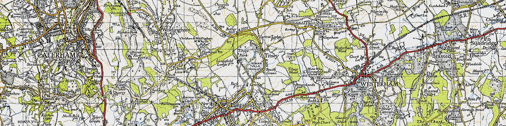 Old map of Titsey Park in 1946
