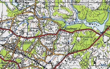 Old map of Tittenhurst in 1940