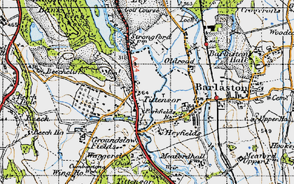 Old map of Tittensor in 1946