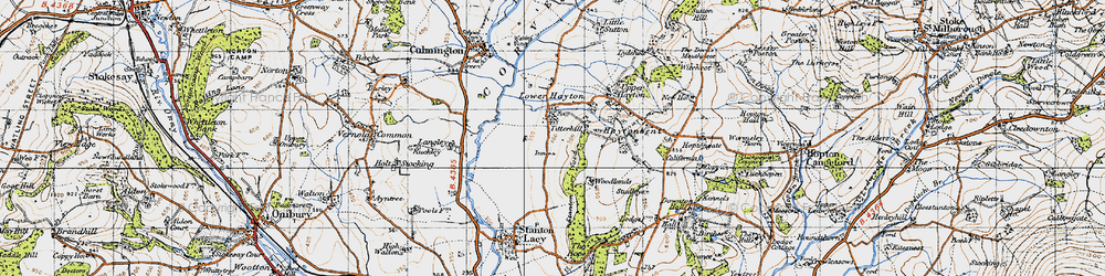 Old map of Titterhill in 1947