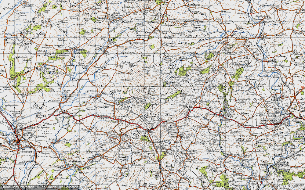 Old Map of Titterstone Clee Hill, 1947 in 1947
