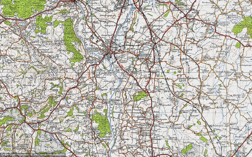 Old Map of Titton, 1947 in 1947