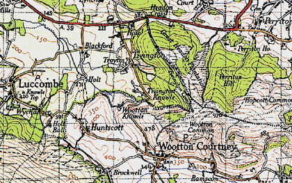 Old map of Tivington Knowle in 1946