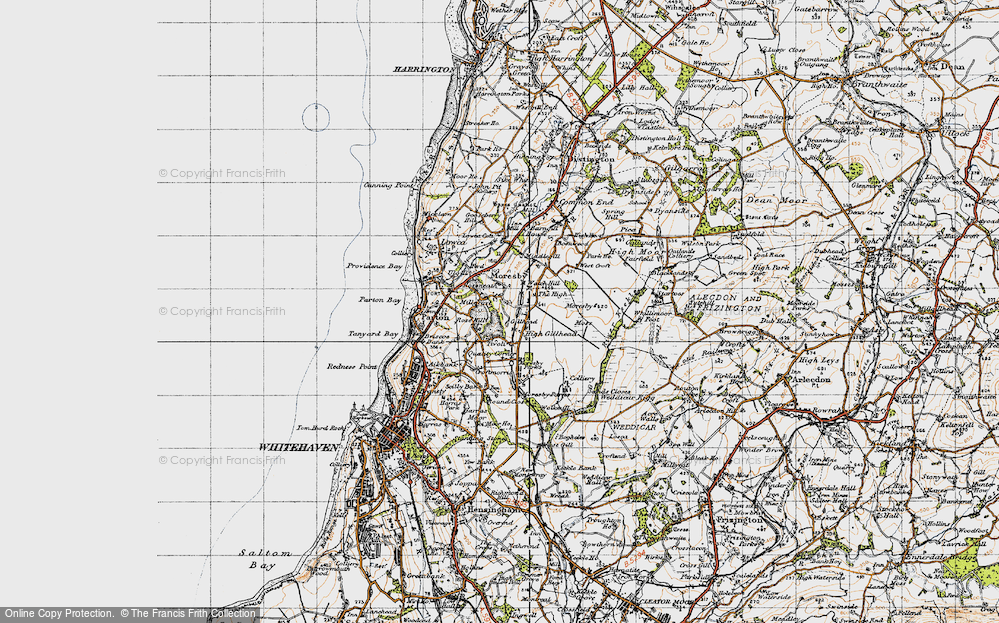 Old Map of Tivoli, 1947 in 1947