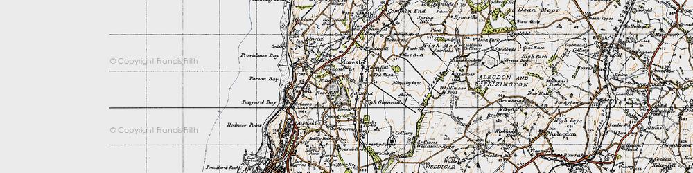Old map of Tivoli in 1947