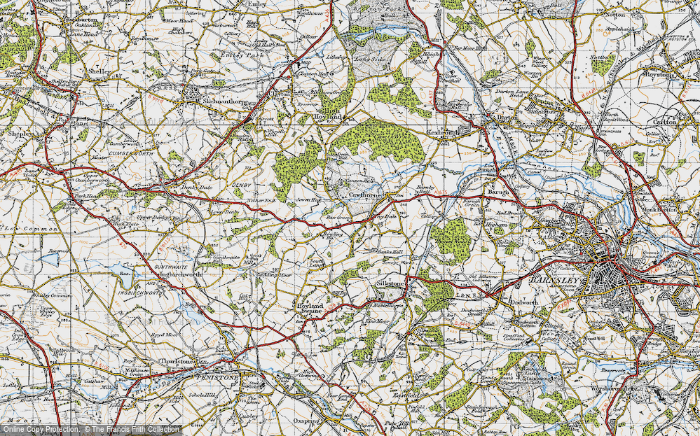 Old Map of Tivy Dale, 1947 in 1947